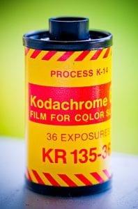 Kodachrome 64 film cassette