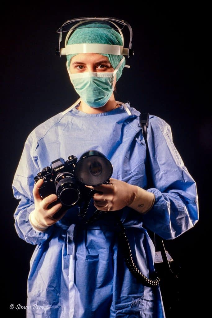 Medical photography in the 1980s A photographer in theatre clothing